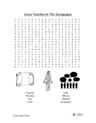 Jesus Teaches in the Synagogue - Word Search