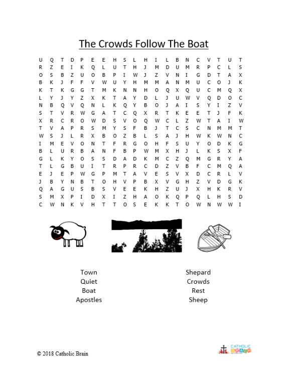 The Crowds Follow the Boat - Word Search