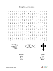 Disciples Leave Jesus - Word Search