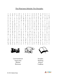 The Pharisees Rebuke the Disciples - Word Search