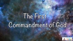 Lesson 16 - The First Commandment of God Grade 6-8