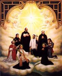 Saints Isaac Jogues, John De Brebeuf, and Companions