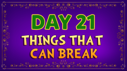 Brother Francis - Advent Day 21 - Things That Can Break