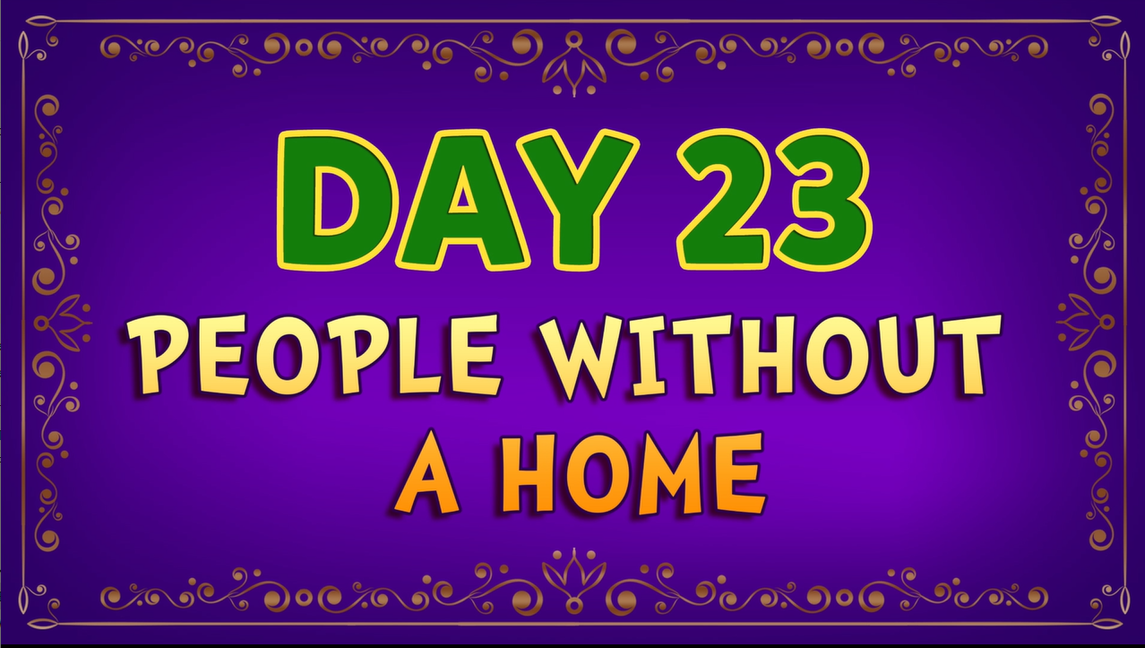Brother Francis - Advent Day 23 - People Without A Home