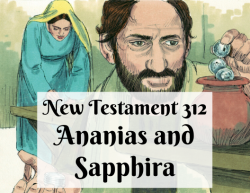 NT 312 - Ananias and Sapphira