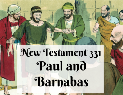 NT 331 - Paul and Barnabas