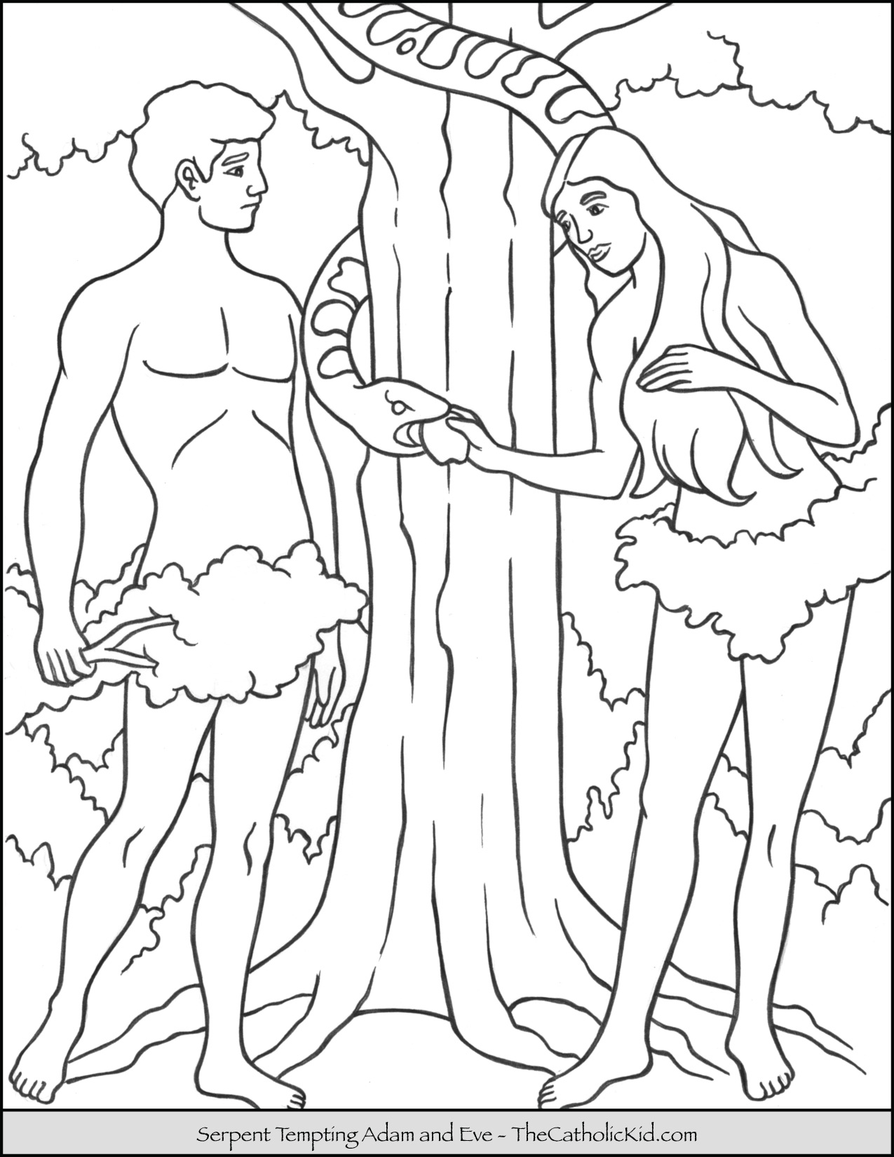 Serpent with Adam and Eve