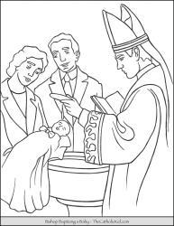 Bishop Baptizing