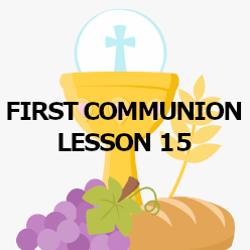 First Communion - Lesson 15 - Baptism