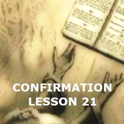 Confirmation - Lesson 21 - The Ten Commandments