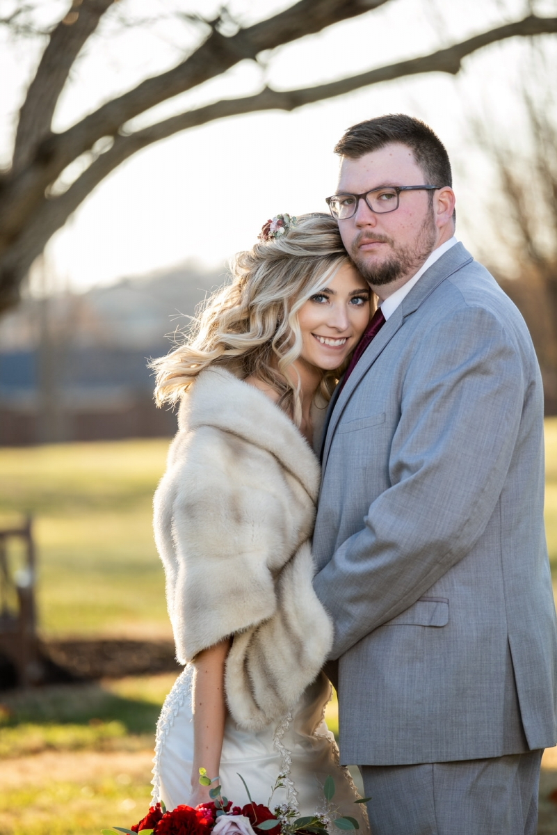 Mr. and Mrs. Spriggs | Centennial Barn wedding photography