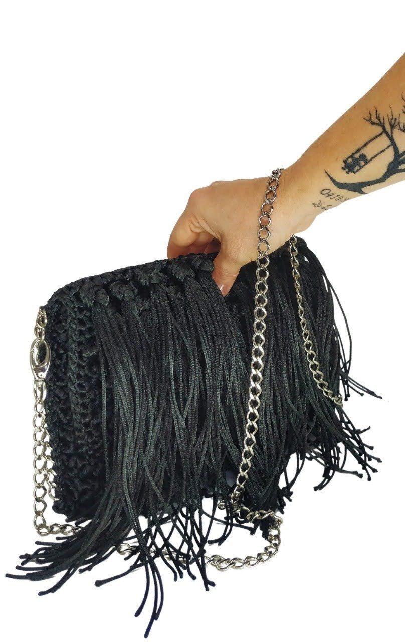Bolsa Com Franjas Diva Black