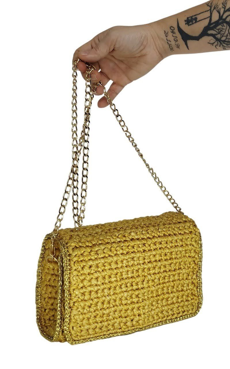 Bolsa Glamour Gold