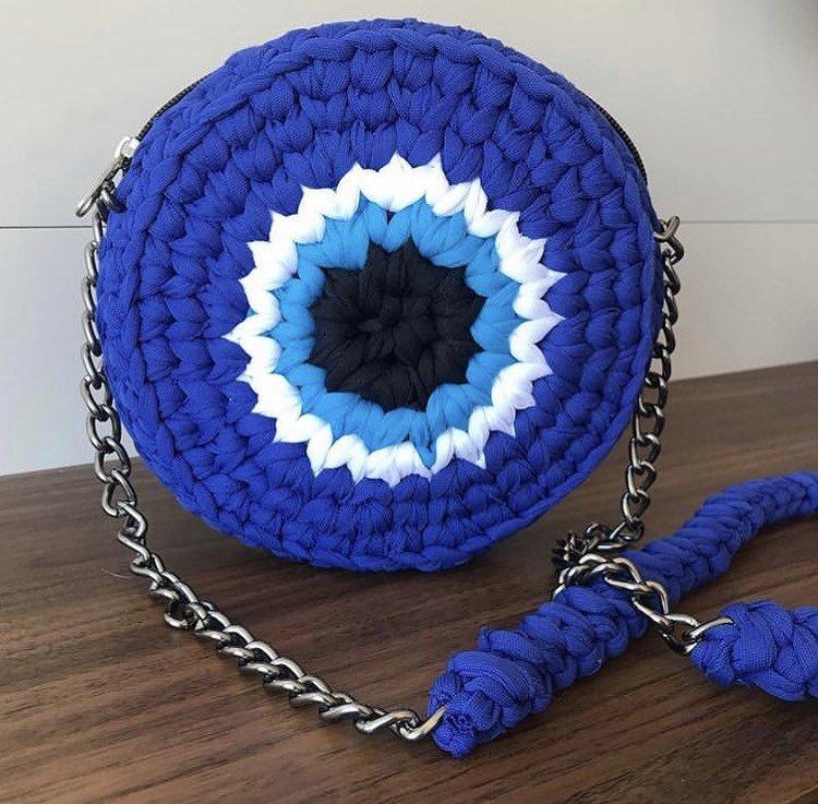 Bolsa Olho Grego - Azul