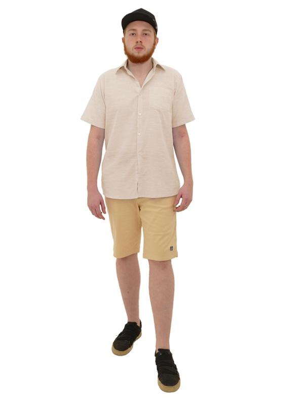 Camisa Manga Curta Linho Slim Rosa