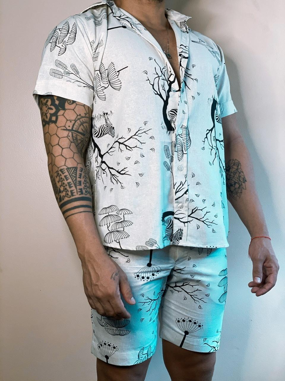 Camisa Zebra Preta