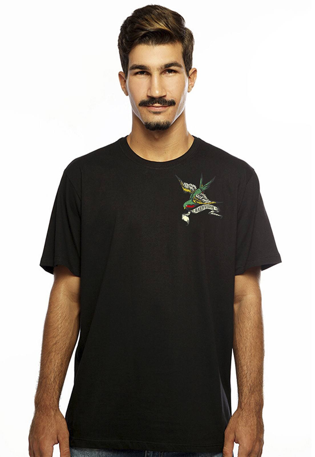 Camiseta Hardivision Hope Manga Curta Preto