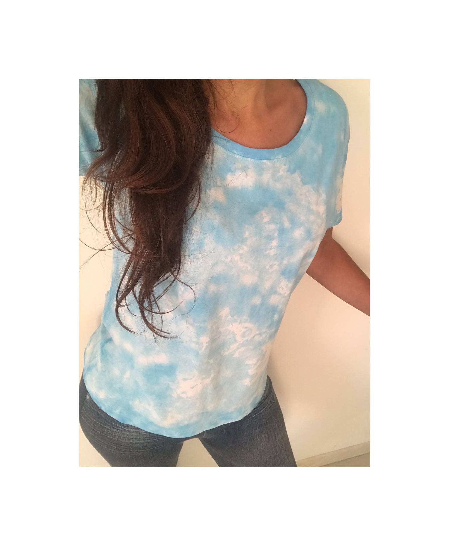 Camiseta Tie Dye sky