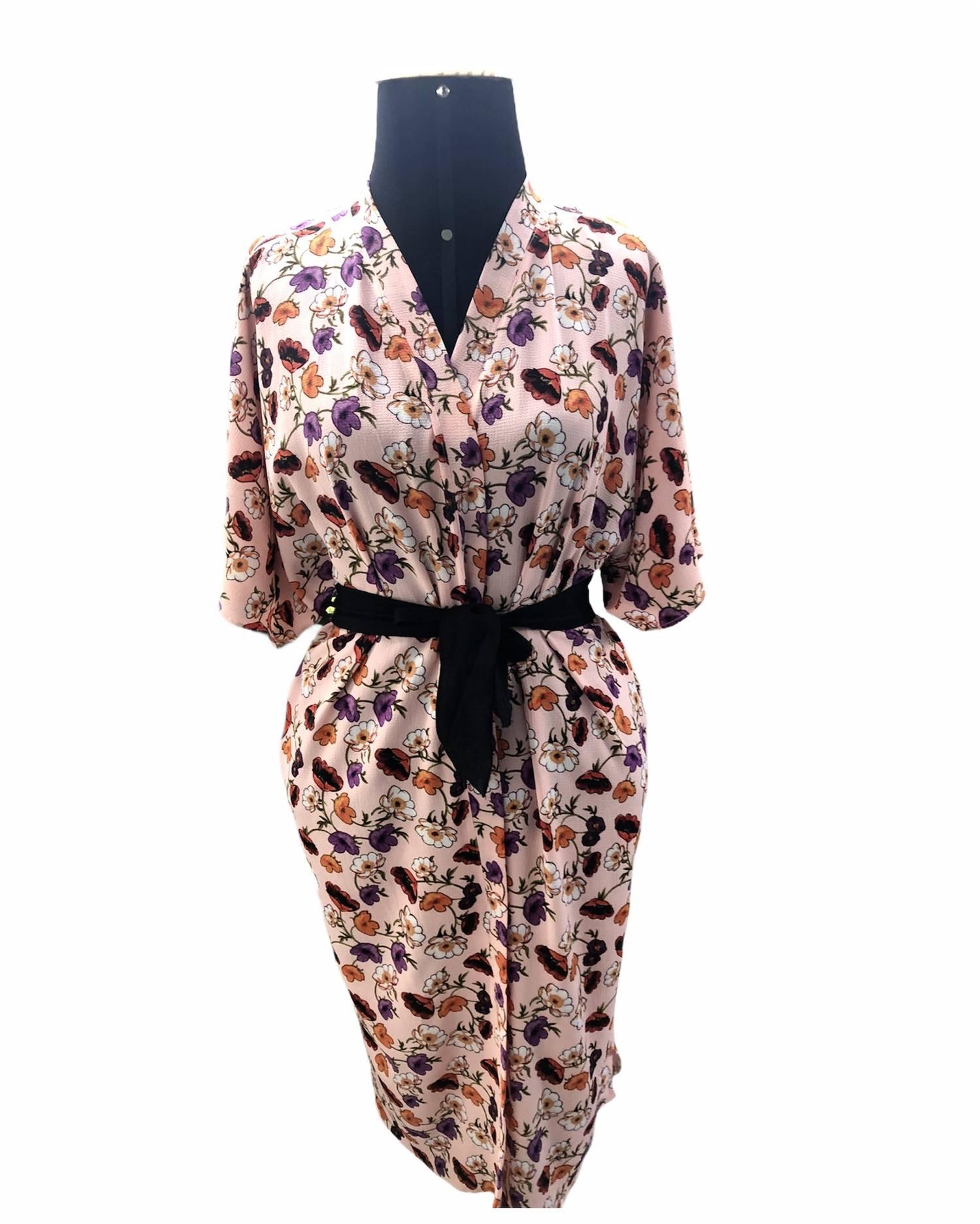 Kimono longo rosa