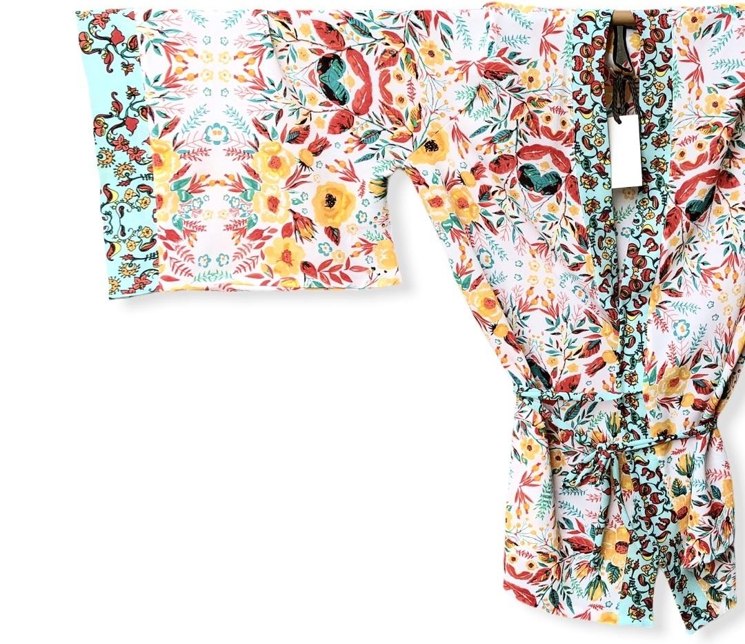 Kimono primavera branco