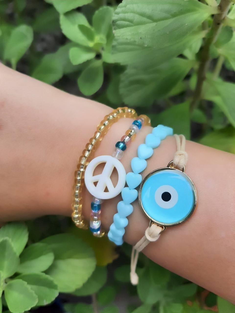 Mix de pulseiras Peace