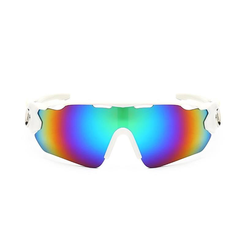 Óculos Ciclismo Multicolor Acetato UV400 - Branco