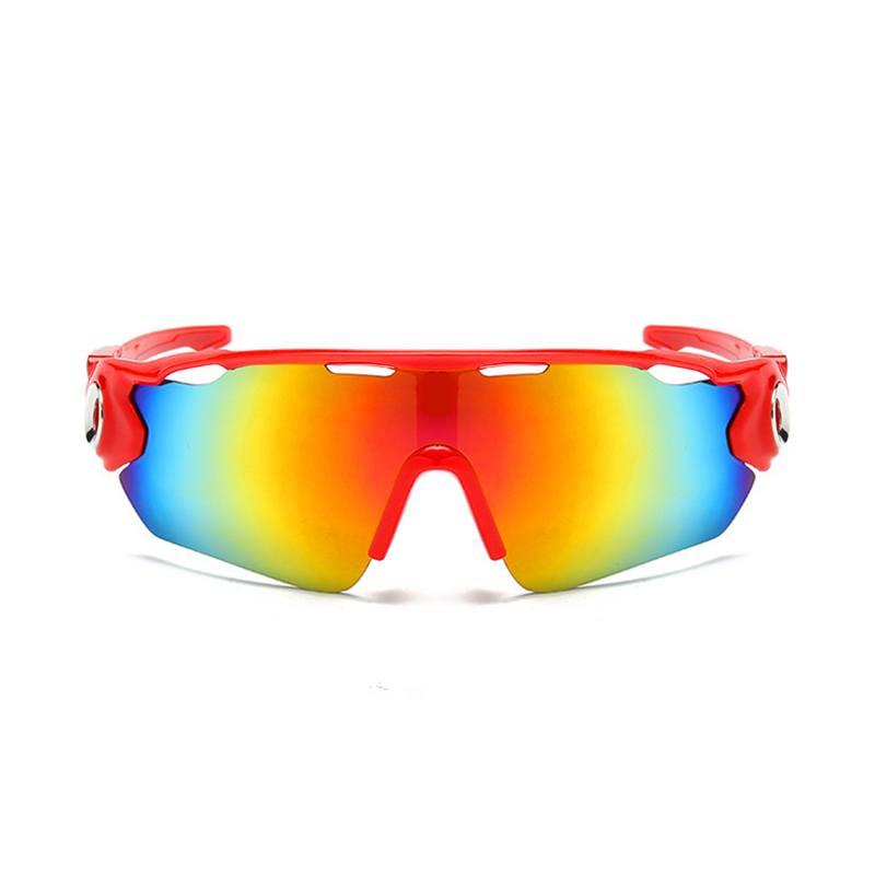 Óculos Ciclismo Multicolor Acetato UV400 - Vermelho