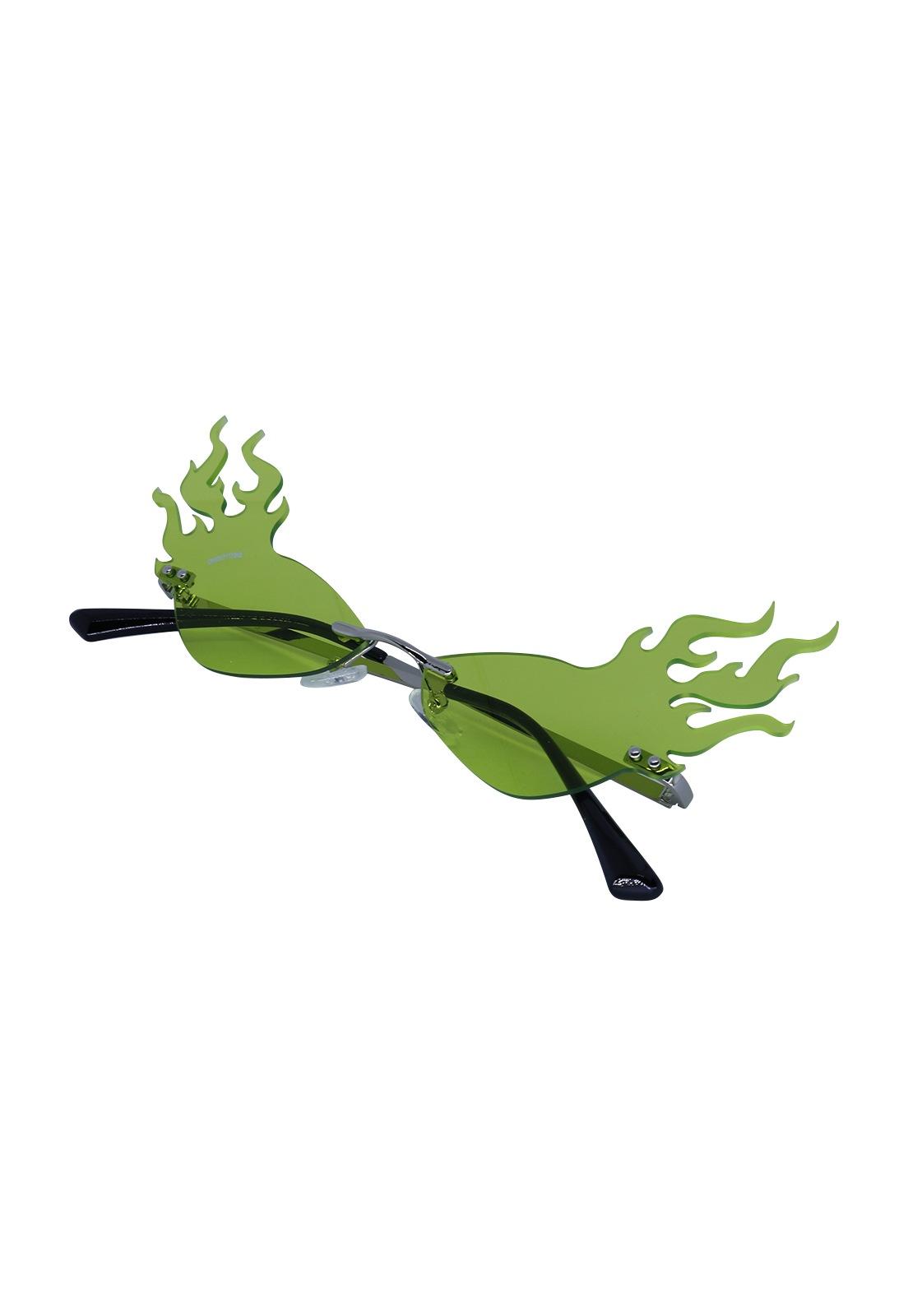 Óculos de Sol Grungetteria Fogo Nozoio Verde