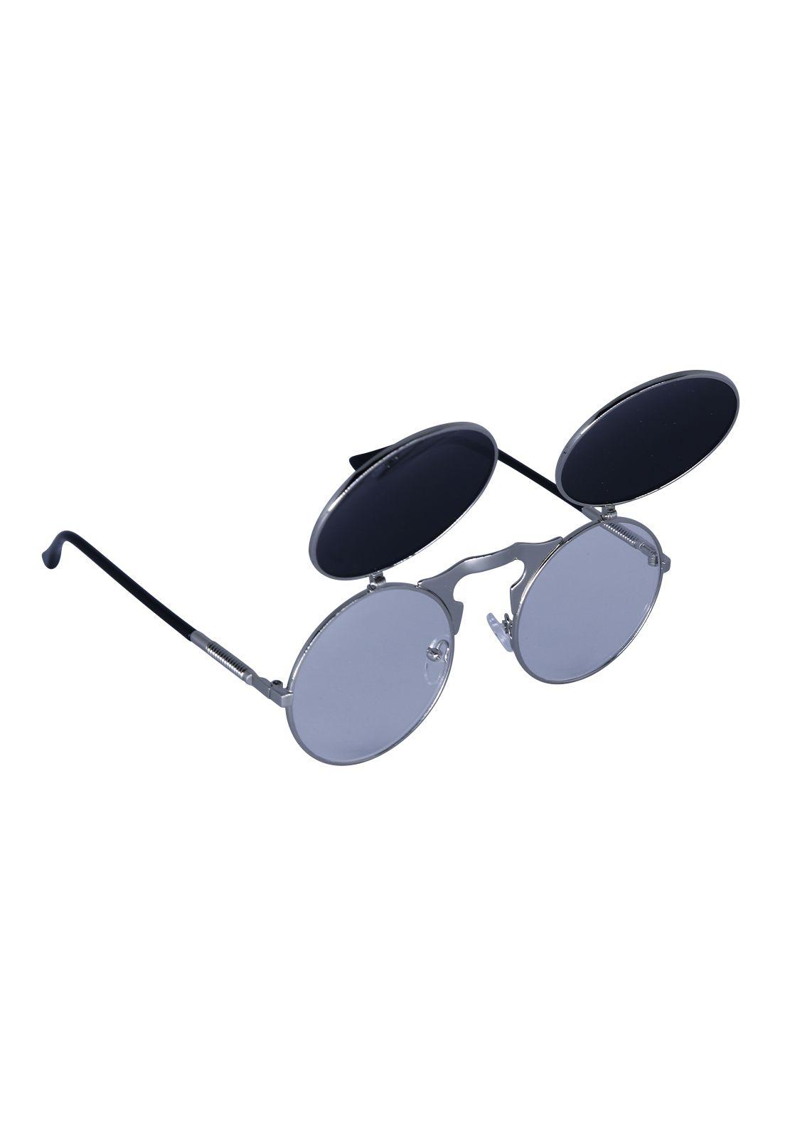 Óculos de Sol Grungetteria Narciso Prateado