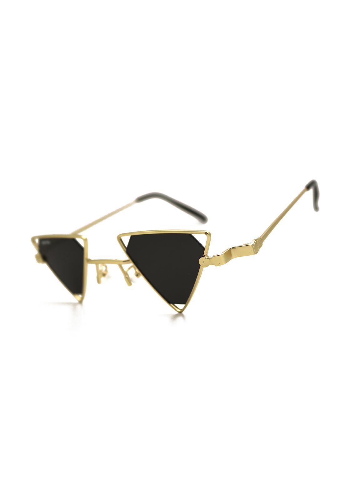Óculos de Sol Grungetteria Vendetta Dourado