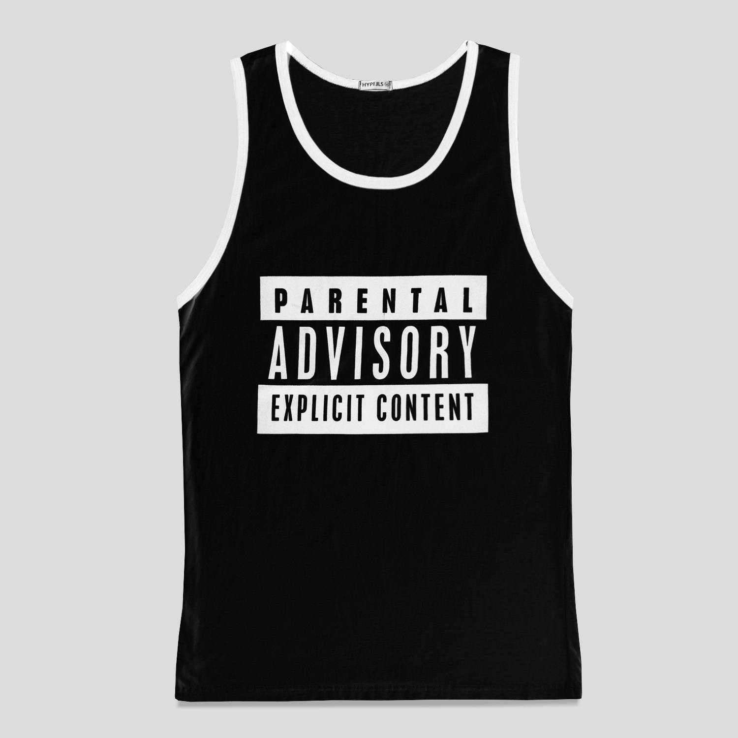 Regata Parental Advisory Explicit Content - Preto