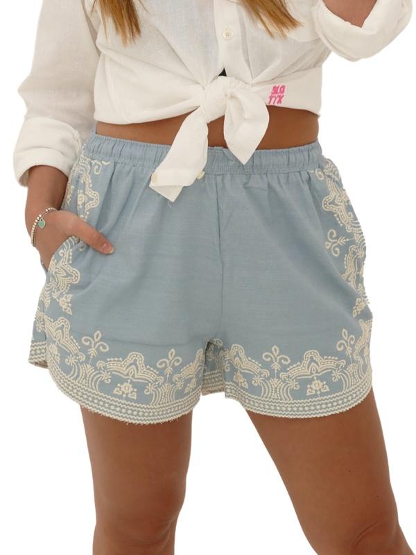 Shorts Bordado Delavê