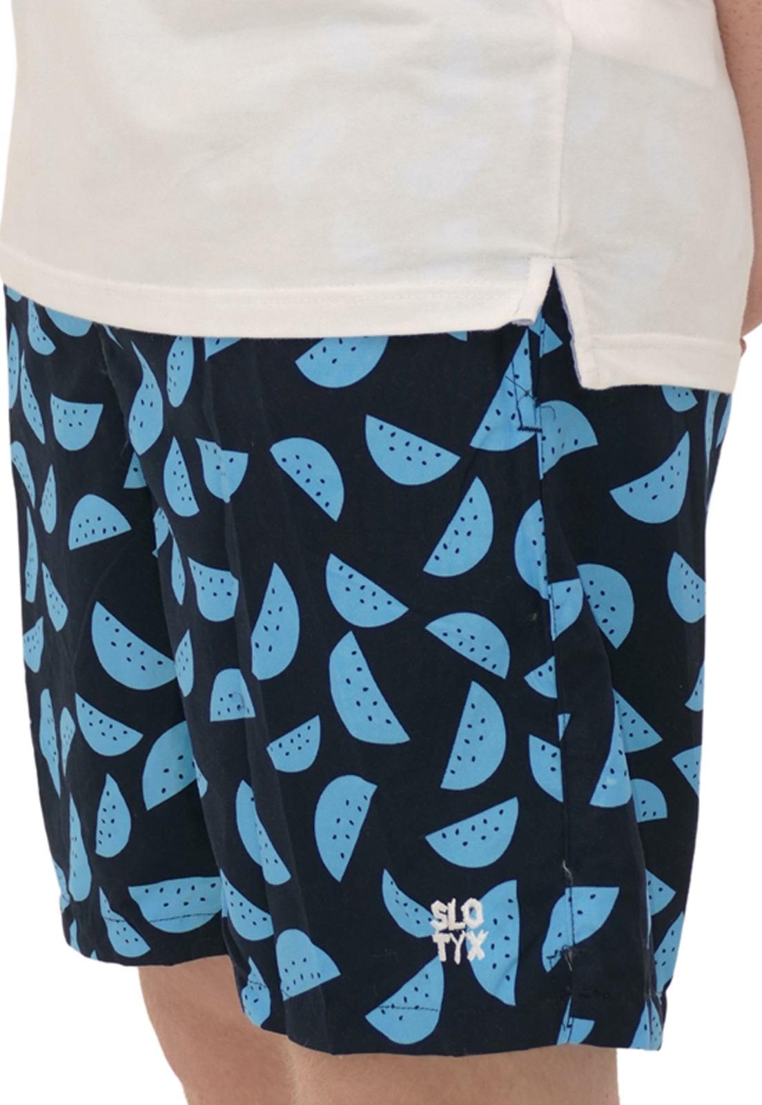 Shorts Estampa Melancia Azul