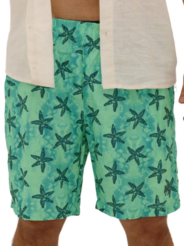 Shorts Estampado Estrela do Mar Verde