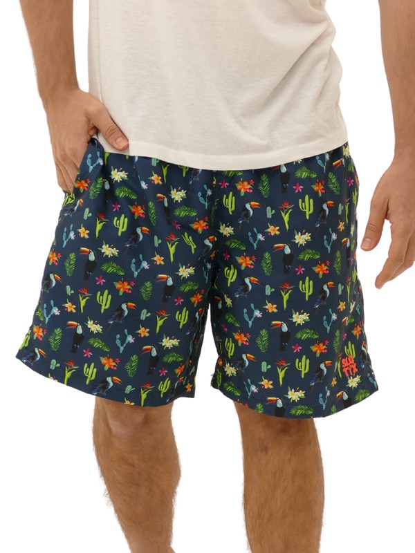 Shorts Estampado Tucano Azul