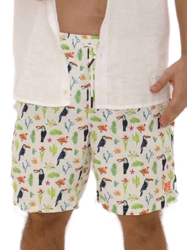 Shorts Estampado Tucano Branco