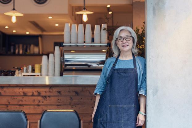 woman entrepreneur inside cafe