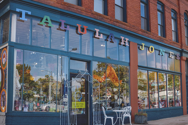 exterior of talulah jones lifestyle boutique based in denver, colorado