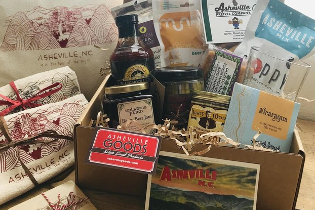 gift basket of asheville, n.c. themed gifts from asheville goods