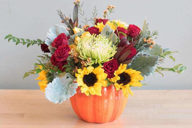 bloomnation floral arrangement on a table