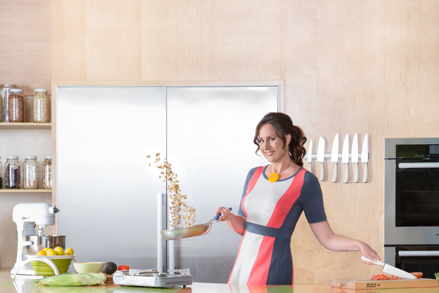 Monika Reti of Hipcooks in the kitchen