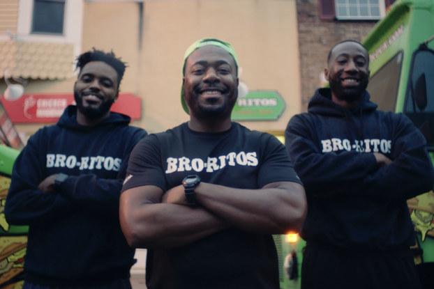 Bro-ritos owners Marcus Crawford, Jarid Thomas and Jonathon Gibb