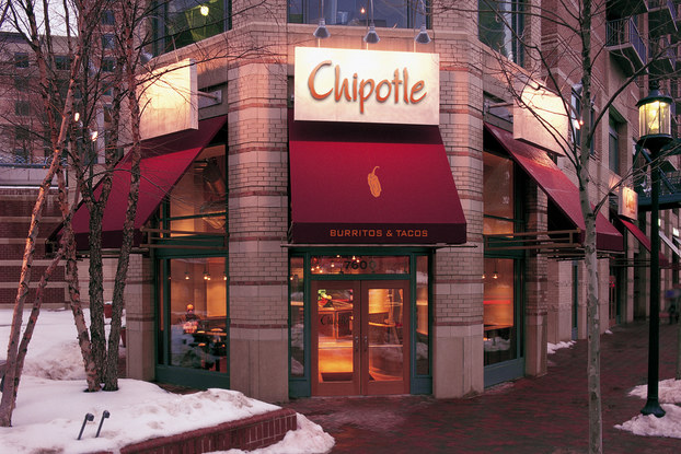 exterior of Chipotle's Bethesda location.