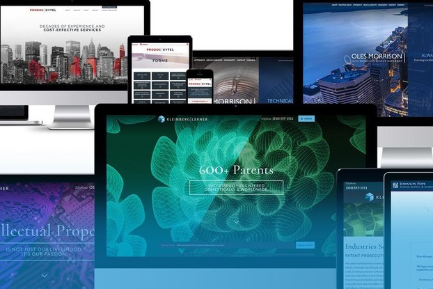 Collage of web designs created by PaperStreet.