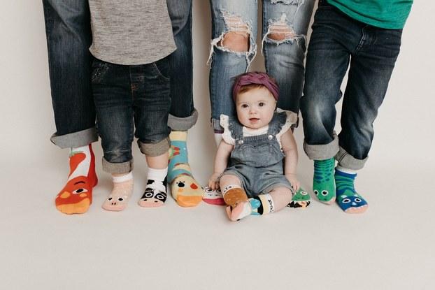 Baby and children wear joyful socks