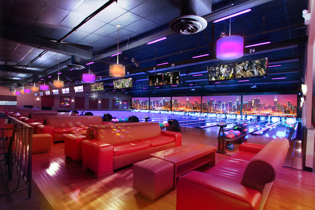 Bowling Alley with vibrant colors