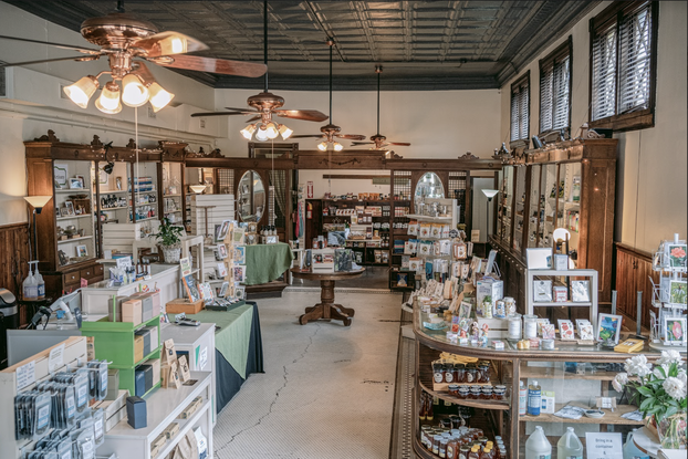 Interior photo of a shop with items on display