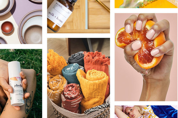 Photo collage displaying products from small businesses that were part of the collaboration between American Express and Pinterest.