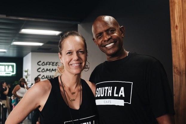 Celia and Joe Ward-Wallace, co-founders of South LA Cafe.