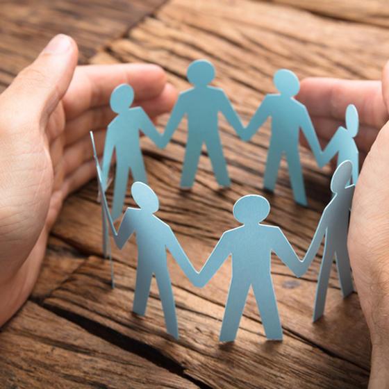 paper people, group, circle